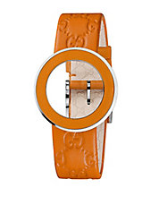 Ladies U-Play Interchangeable Orange Bezel and Strap