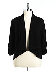 Plus Draped Jersey Cardigan