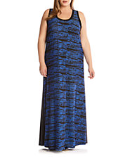 Plus Aventura Azul Maxi Dress