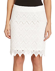 Scalloped Lace Pencil Skirt