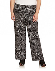Plus Tribal Print Pants