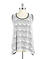 Plus Lace Overlay Tank