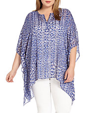 Plus Reflection Print Scarf Top