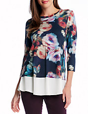 Abstract Rose Top