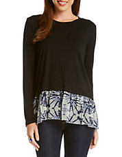 Printed Contrast Top