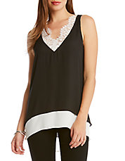 Lace-Trimmed Layered Tank