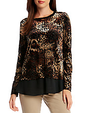 Patterned Overlay Top