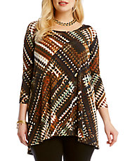 Plus Printed Hi-Lo Tunic