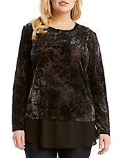 Plus Velvet Burnout Top