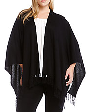 Plus Fringe-Trimmed Cape