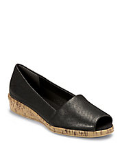 Sprig Break Leather and Cork Wedges