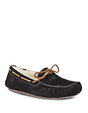 Ladies Dakota Suede Moccasin Slippers