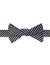 Thin Stripe Silk-Blend Bow Tie