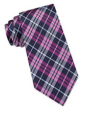 Silk Bowling Plaid Tie