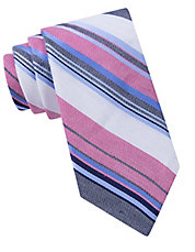 Linen and Silk Country Stripe Tie