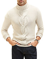 Front Cable Knit Turtleneck