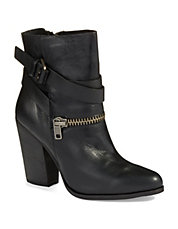 Addison Buckle and Zipper Boots