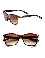 Tortoise Shell, 57mm, Square Sunglasses