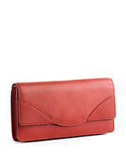 Donington Leather Flap Clutch Wallet