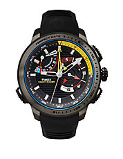 Mens IQ Yacht Racer Stainless Steel Silicone Strap Watch