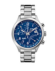 Mens IQ Classic Fly-Back Chronograph Stainless Steel Watch