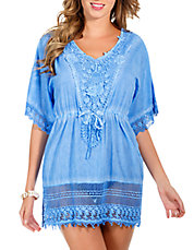 Lace Trim Tunic Cover Up