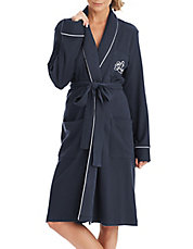 Plus The Hartford Robe with Quilted Collar and Cuffs