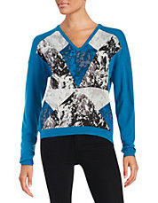 Abstract Geo Print Sweater