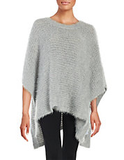Hairy Knit Poncho