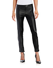 Faux Leather Contrast Pants