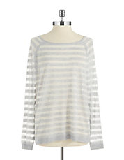 Semi Sheer Striped Pullover