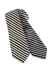 Classic Fit Striped Silk Tie