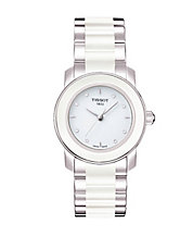 Ladies Cera White Quartz Trend Watch with Diamonds