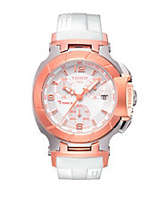 Ladies T-Race White Quartz Sport Watch