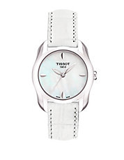 Ladies T-Wave Round White Mother Of Pearl Quartz Trend Watch