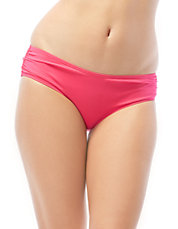 Side-Shirred Swim Bottom