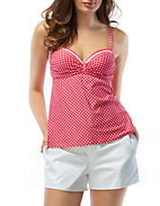 Divine Power Polka Dot Tankini Top