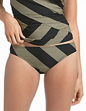 Striped Hipster Swim Bottoms