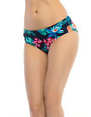 Floral Side-Shirred Swim Hipster