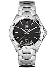 Mens Link Black Dial Day and Date Watch