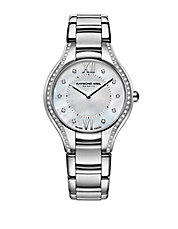 Ladies Silvertone Diamond Watch