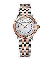 Ladies Two-Tone Bracelet Watch with Diamond Markers