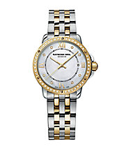 Ladies Two-Tone Bracelet Watch with Diamond Accents