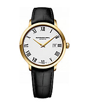 Mens Toccata Goldtone and Leather Watch
