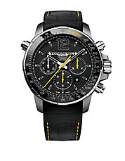 Mens Nabucco Black and Yellow Chronograph Watch