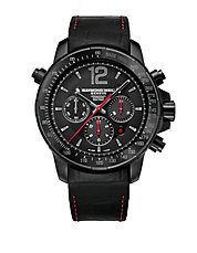 Mens Nabucco Black and Red Chronograph Watch