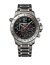 Mens Nabucco Gray and Red Chronograph Watch
