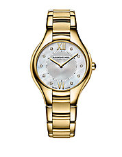 Ladies Noemia Goldtone Watch with Diamonds