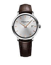 Tocatta Collection, Stainless Steel and Leather Watch