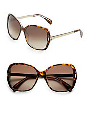 Contrast 57mm Square Sunglasses